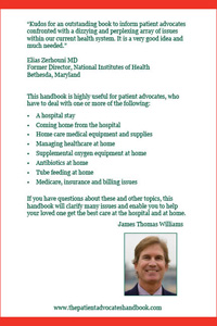 Back cover of The Patient Advocate's Handbook